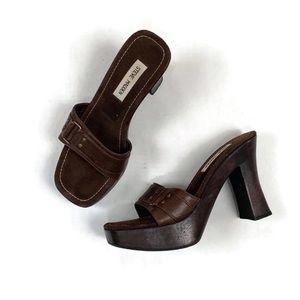 Steve Madden Bailee Wood Platform Heels | 9